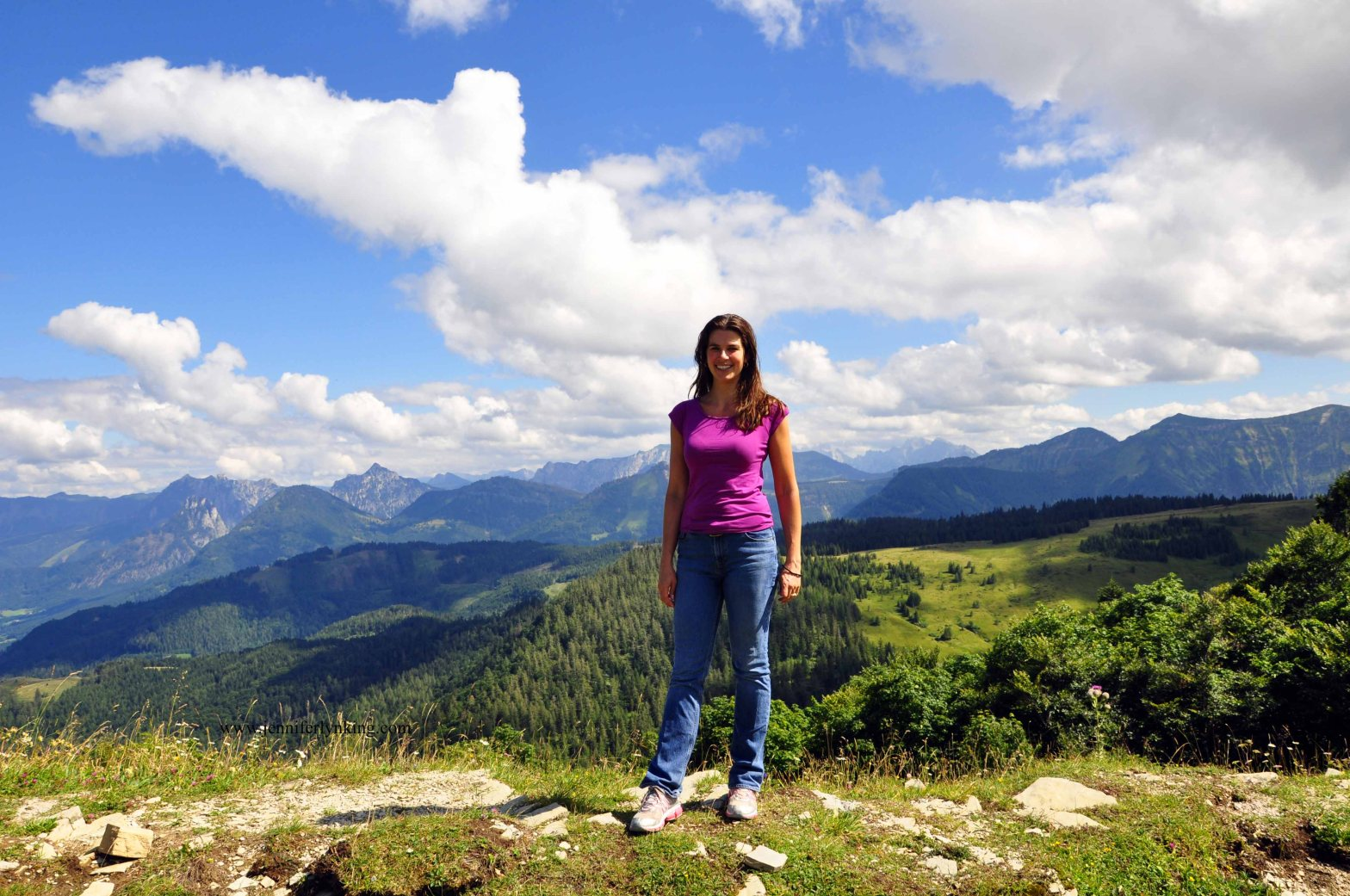 On top of the world in the Austrian Alps