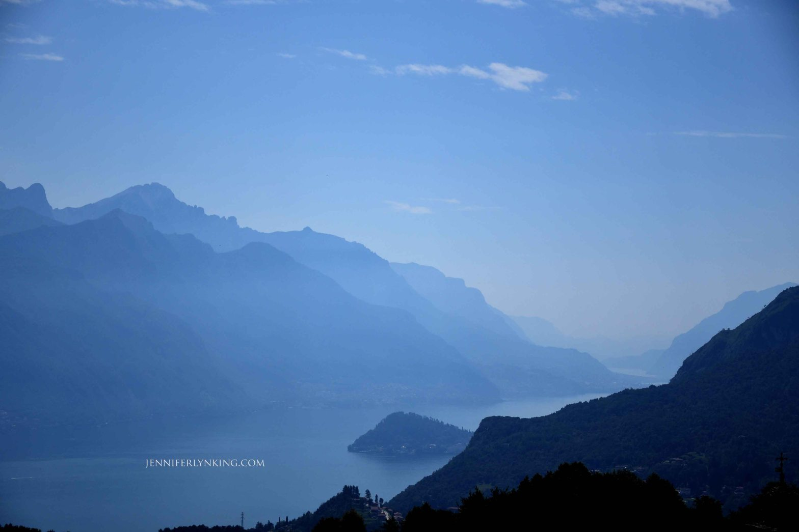 Lake Como, the view from the Alps -- sheer beauty