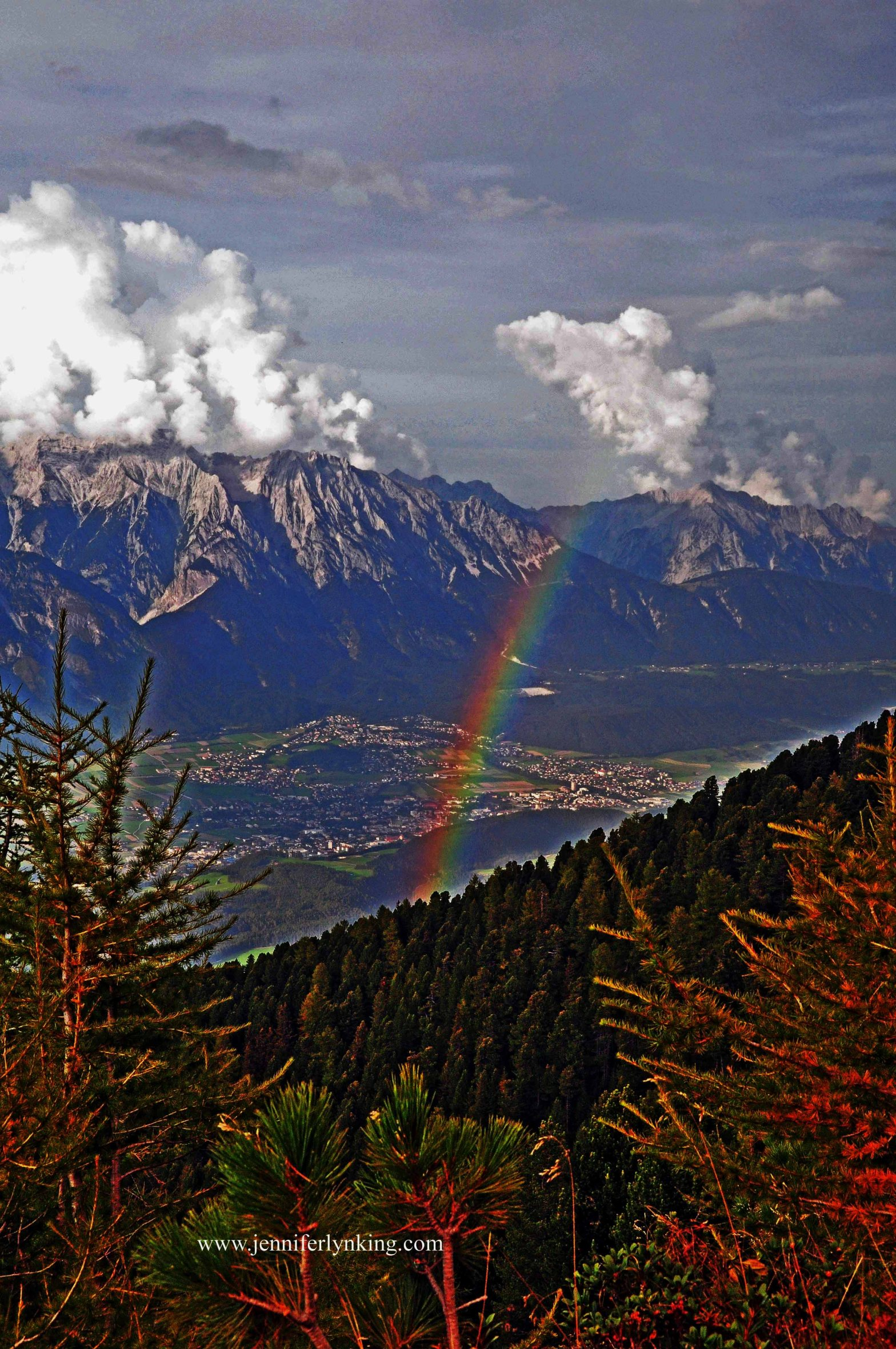 """""""Regenbogen"""" (Rainbow) in the Austrian Alps"""