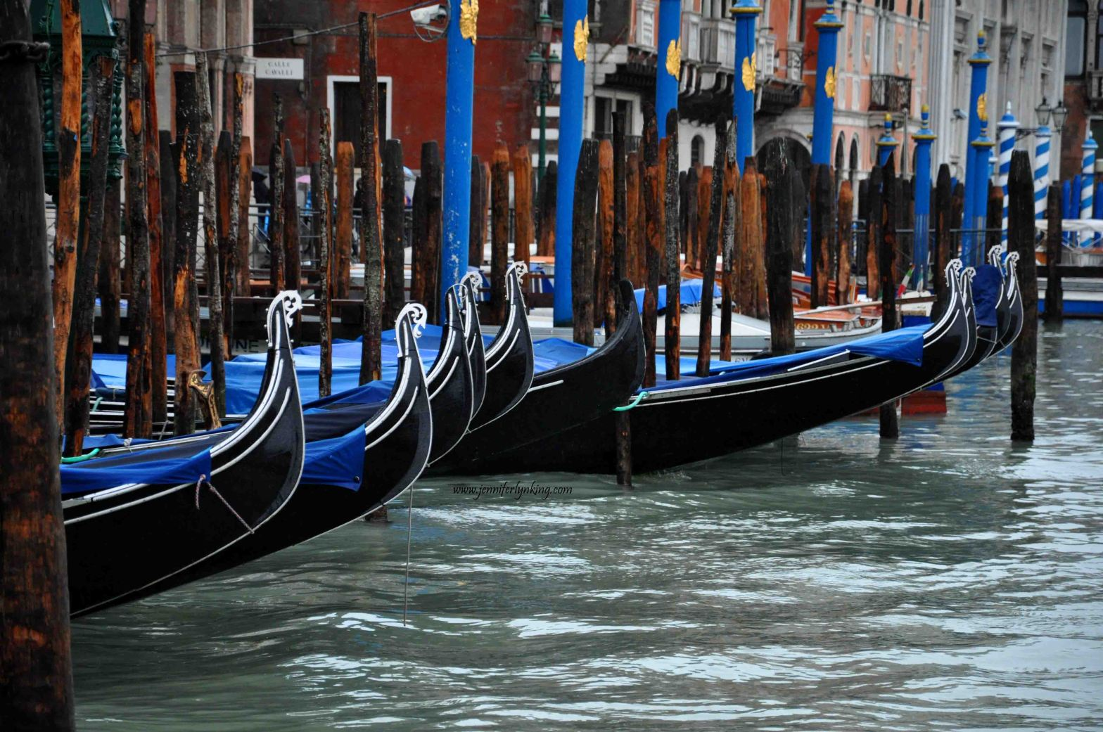 Gondola Parking in Venice