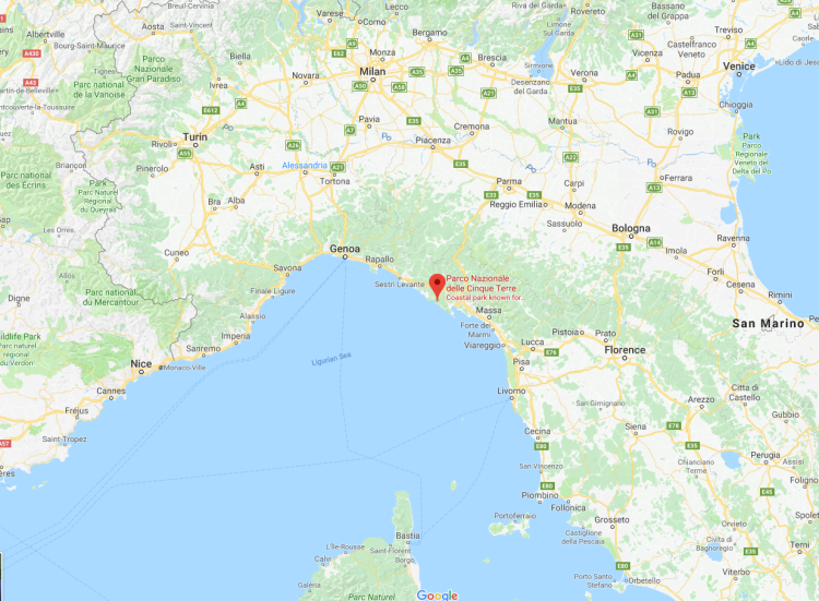 Cinque Terre, Italy and the Ligurian Sea