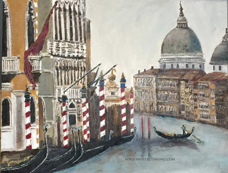 Oil painting of Venice by me, Jennifer Lyn King