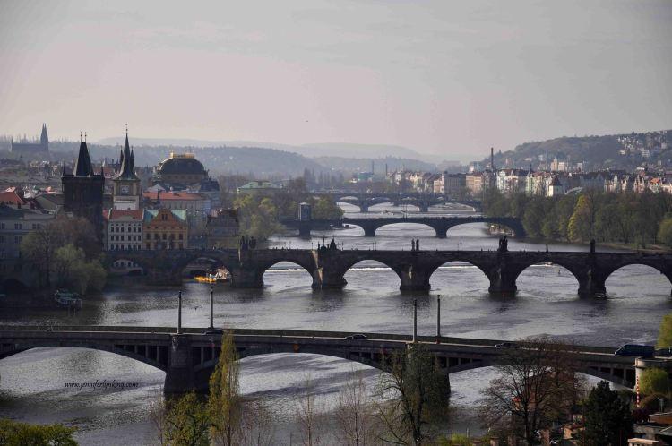 the five bridges of Prague