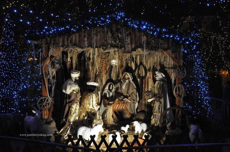 The manger scene on Prague's Old Town Square