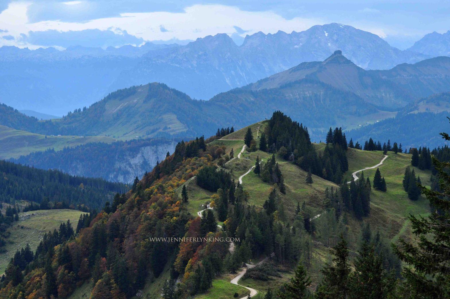 Austrian Alps in autumn