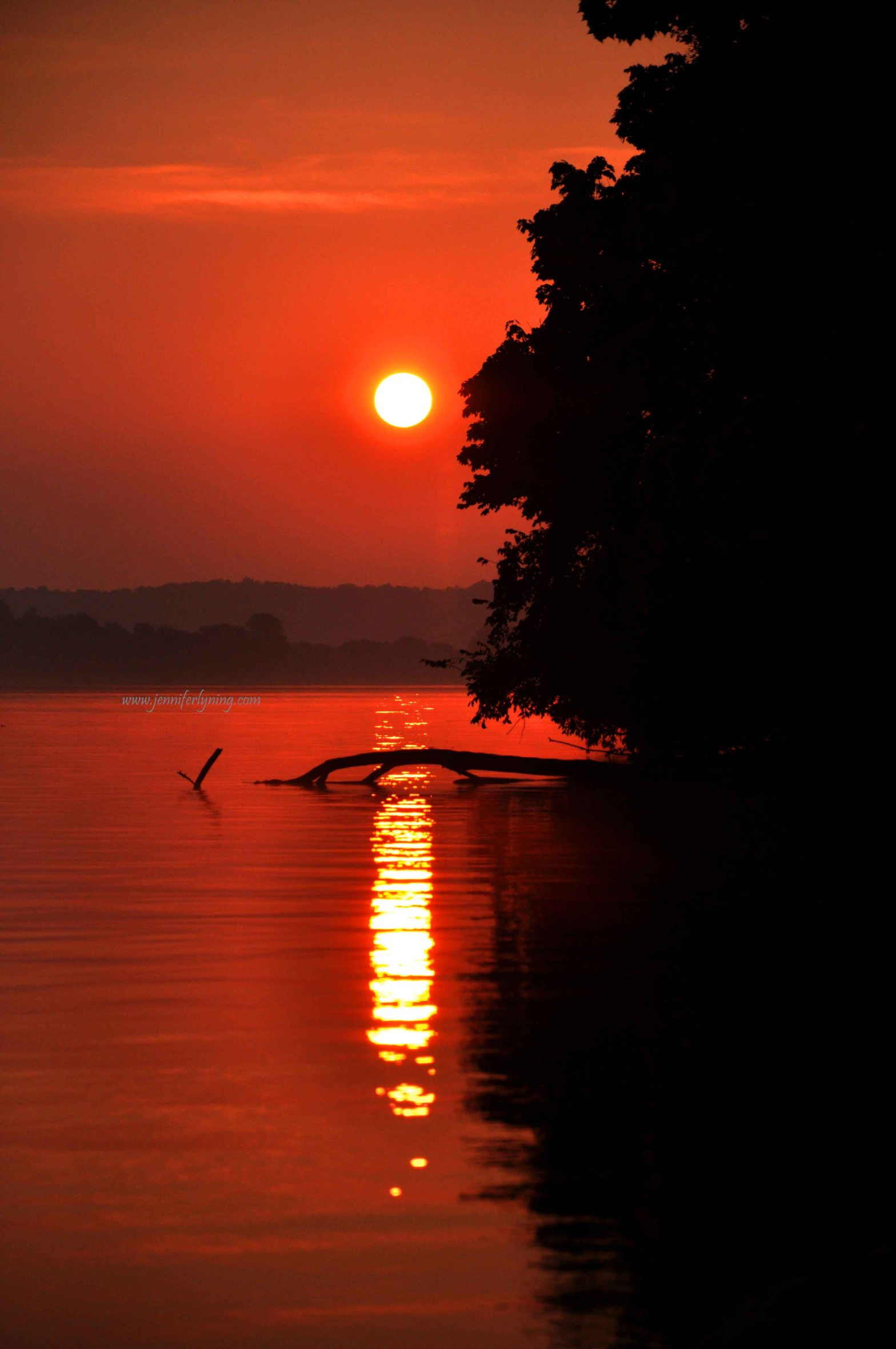Tangerine Sunrise, Ohio River