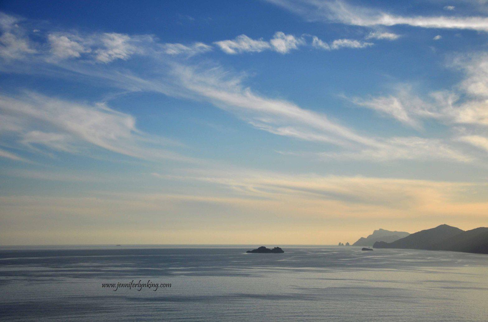Sunrise over the Isle of Capri, Italy