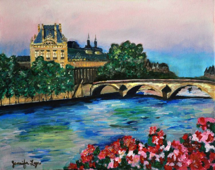 Paris across the Seine oil painting