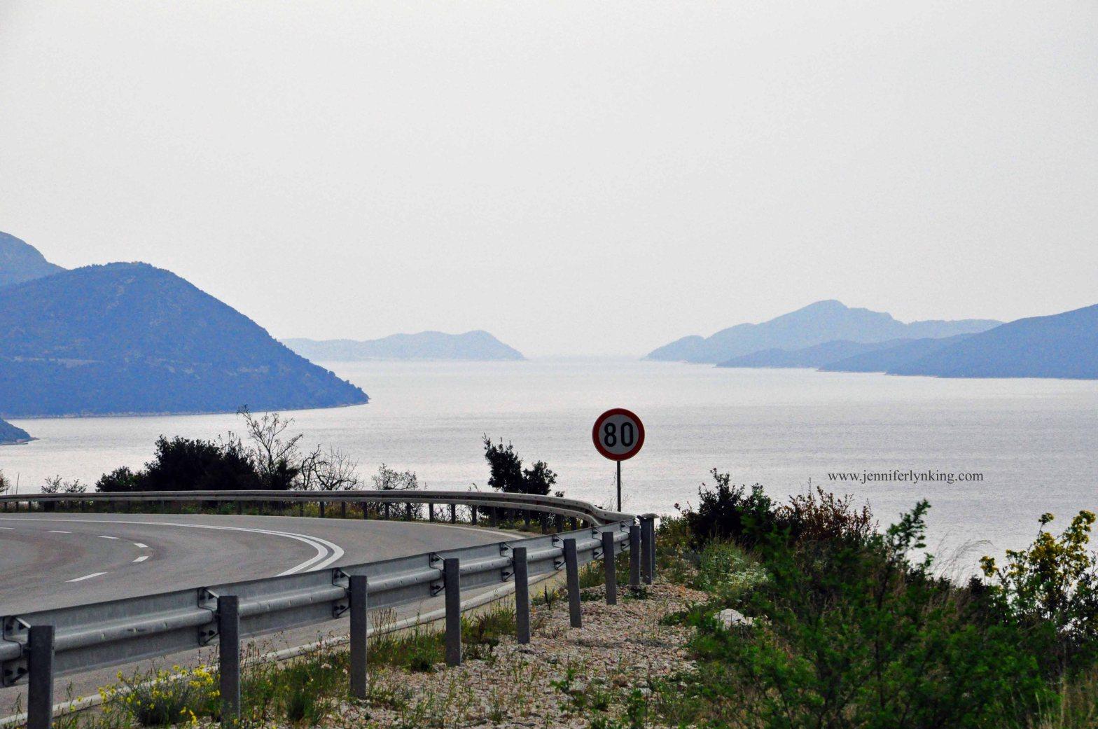 The winding road along the Croatian Coast, near Bosnia