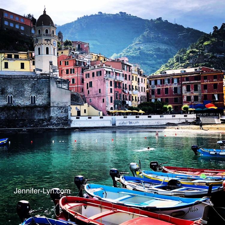 A Dip into the Ligurian Sea on a Summer Sunda, Vernazza, Cinque Terre