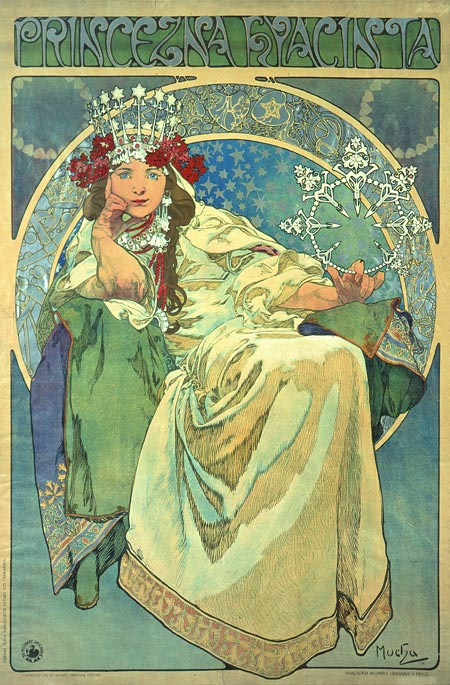 Princess Hyacinth by Alfons Mucha via Wikimedia.org