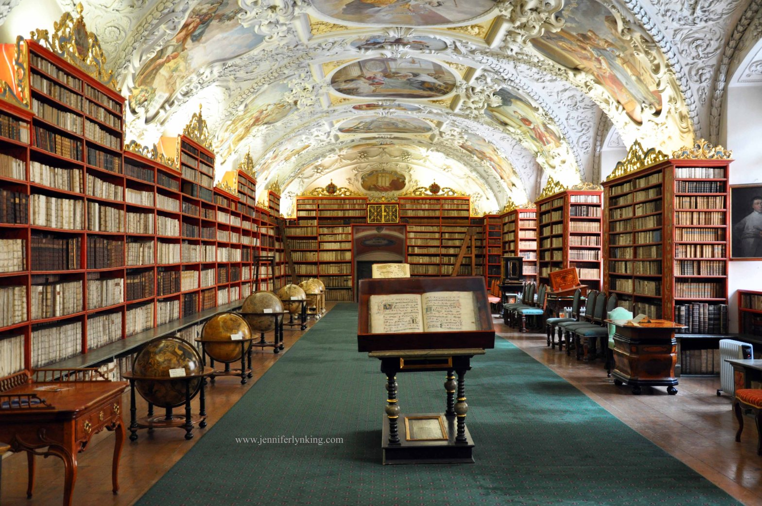 Library at Strahov Monastery, Prague: A setting in my work-in-progress novel, Water Lily