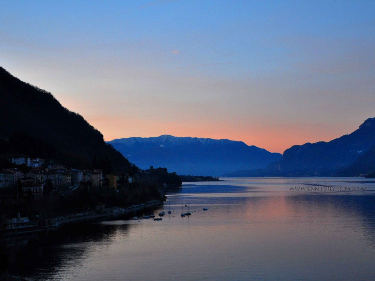 Lake Como at Sunrise, Northern Italy