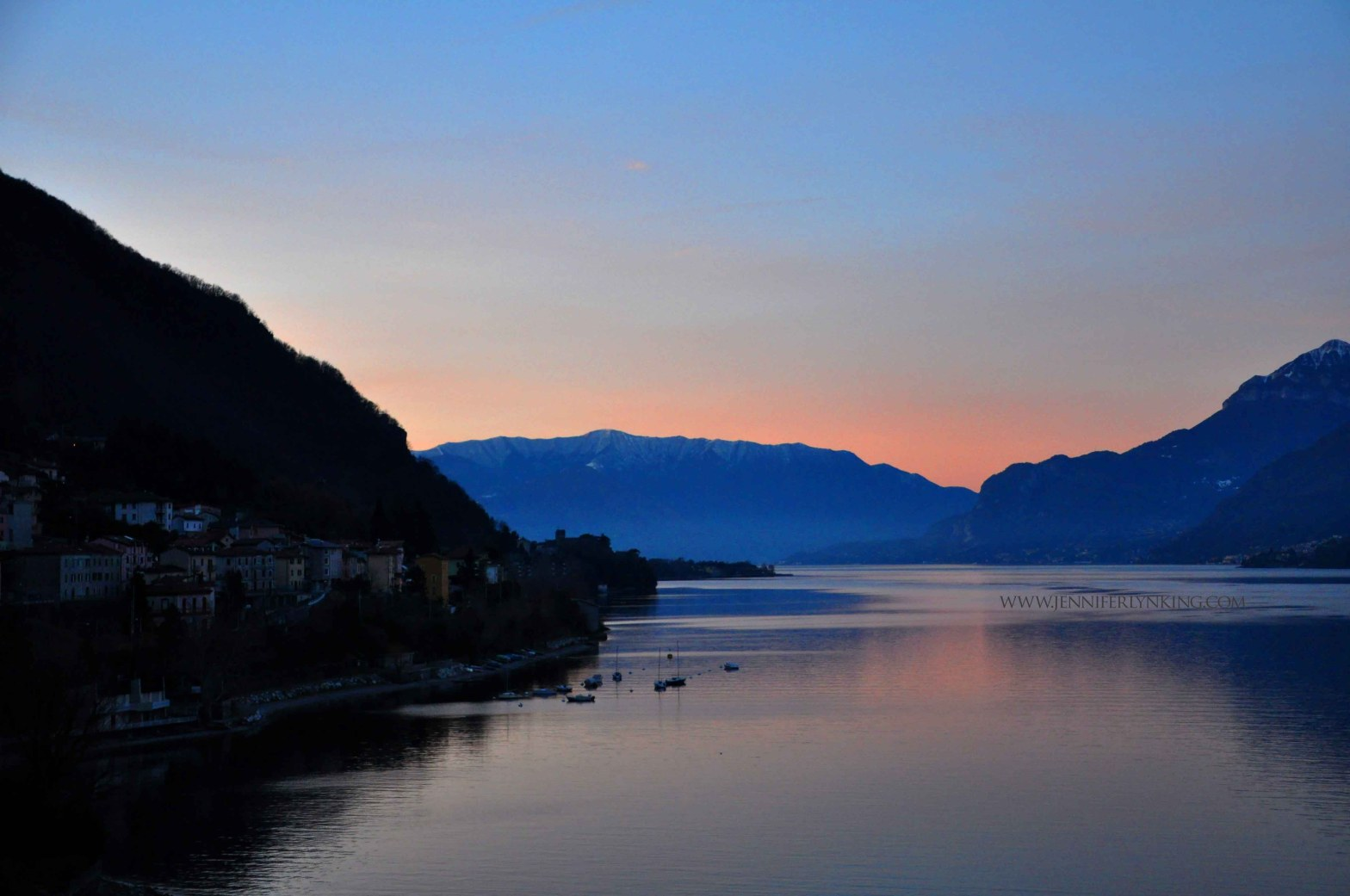 Lake Como at Sunrise, Northern Italy