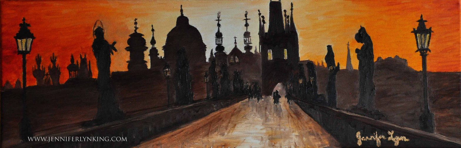 My newest oil painting, Charles Bridge at Sunrise