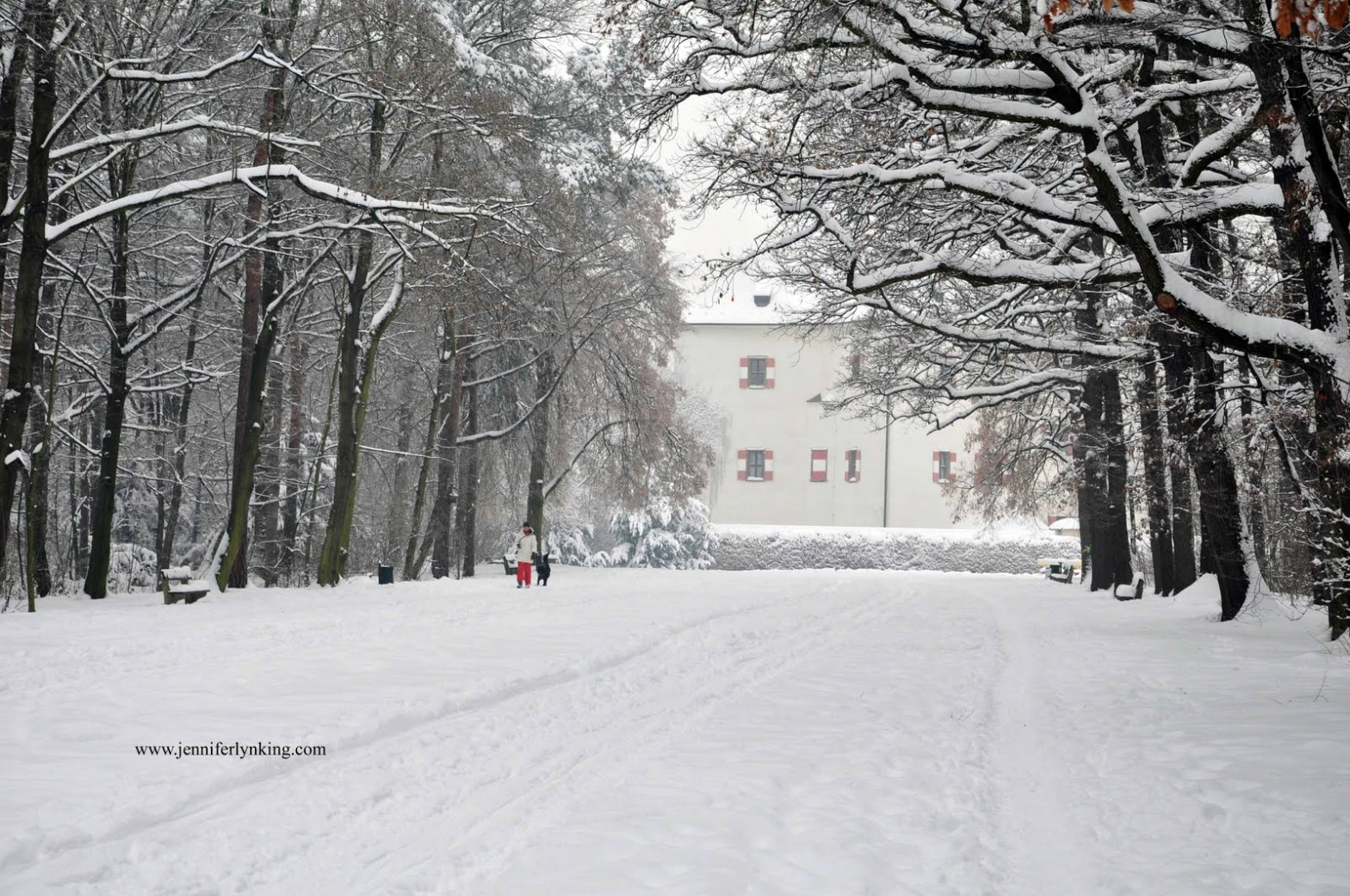 Prague's Star Summer Palace in Winter