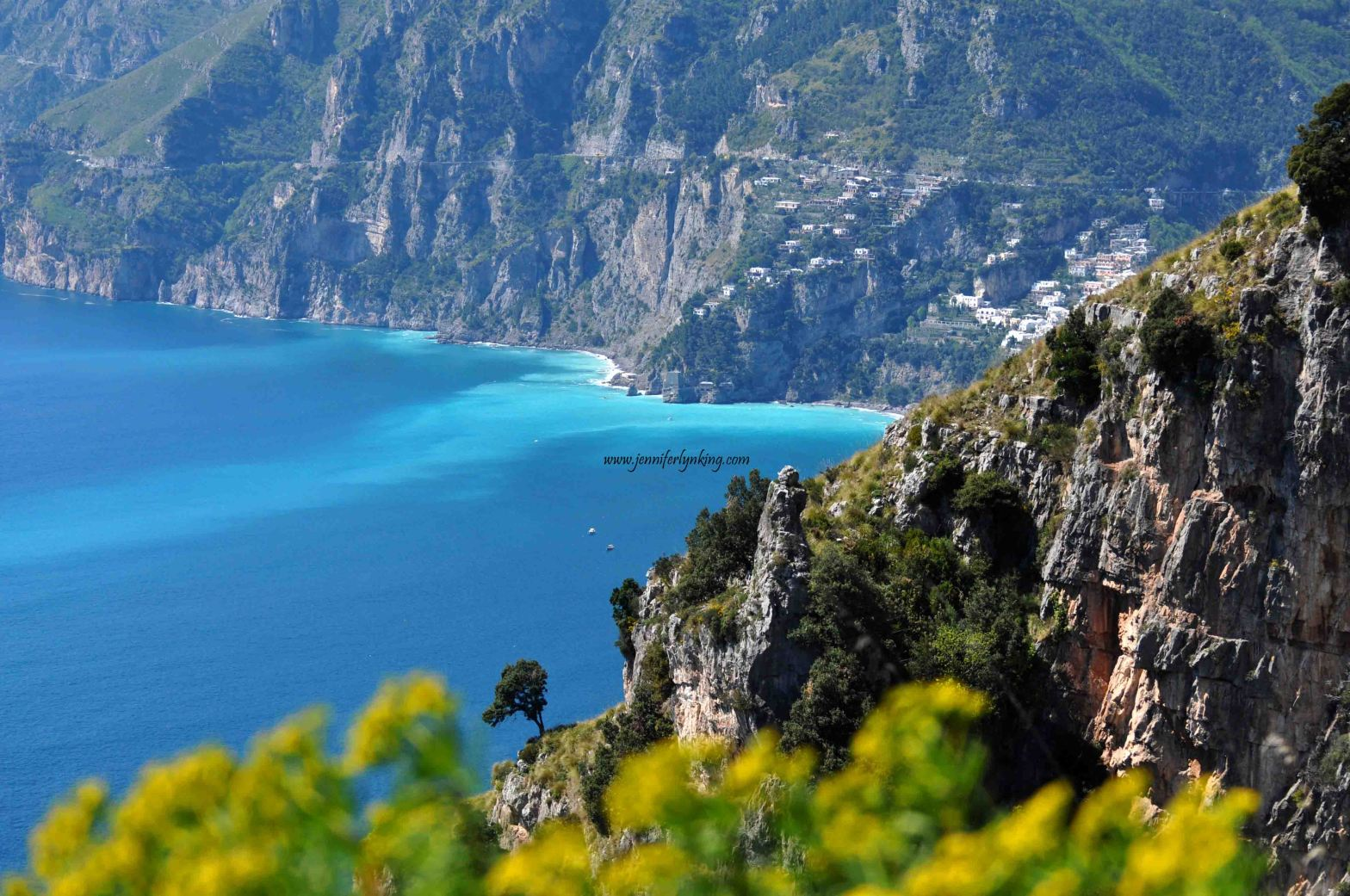 Italy's Amalfi coast from a hike along the Trail of the Gods