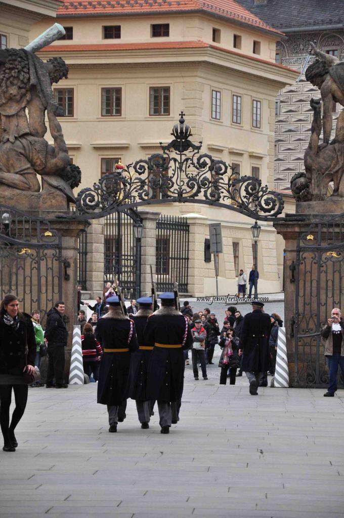 Entrance to Prague Castle, facing out