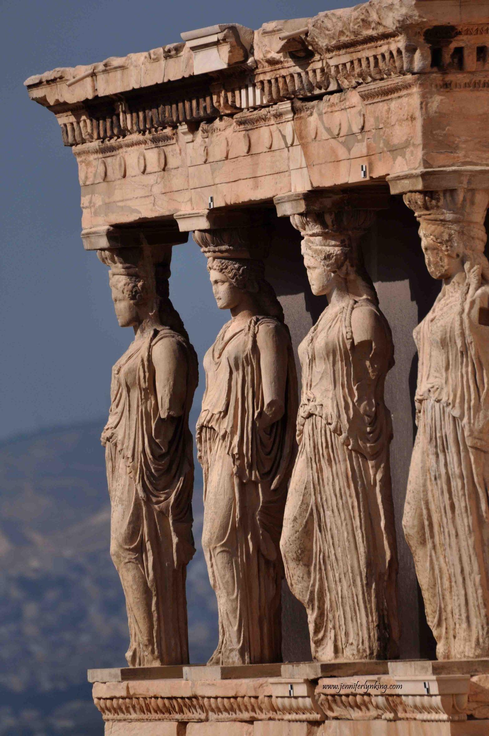 the Porch of Maidens, Parthenon, Athens, Greece