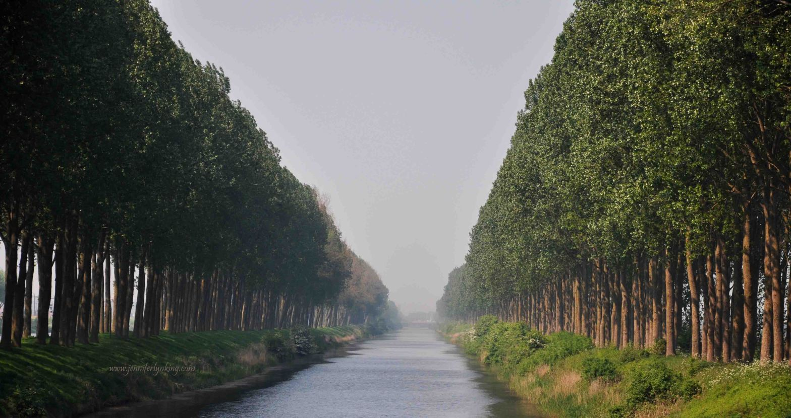 A Canal in Holland leading toward the Sea