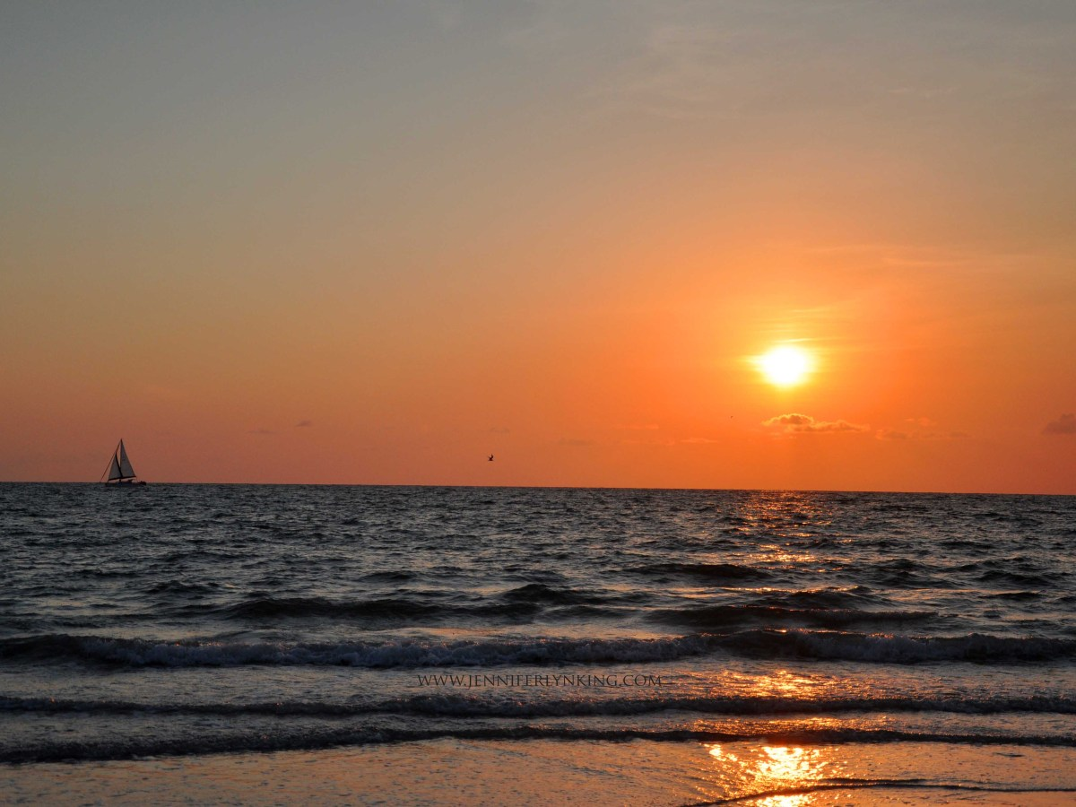 the beautiful Gulf of Mexico from North Clearwater Beach, Florida