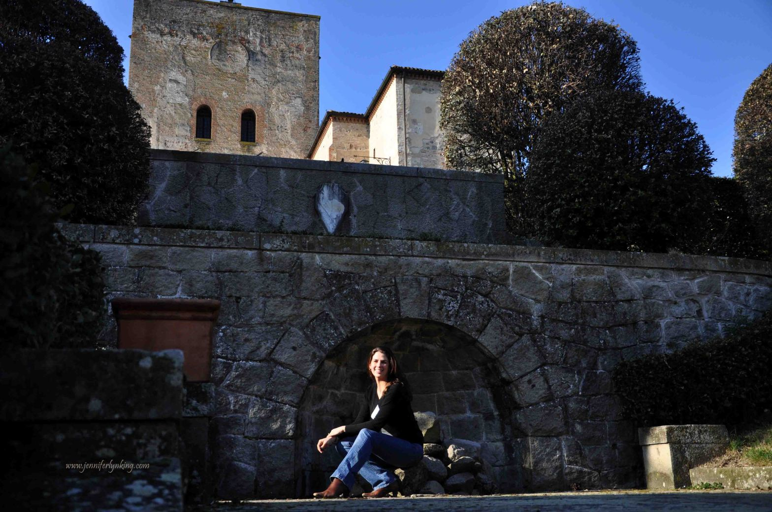 Jennifer Lyn King at a Castle in Italy