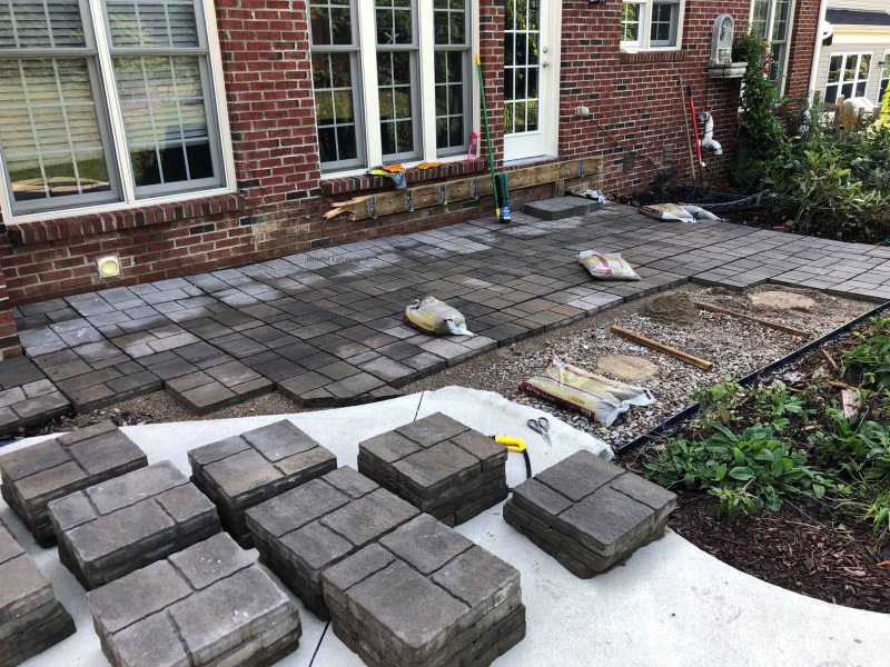 Stone by stone, installing a paver patio
