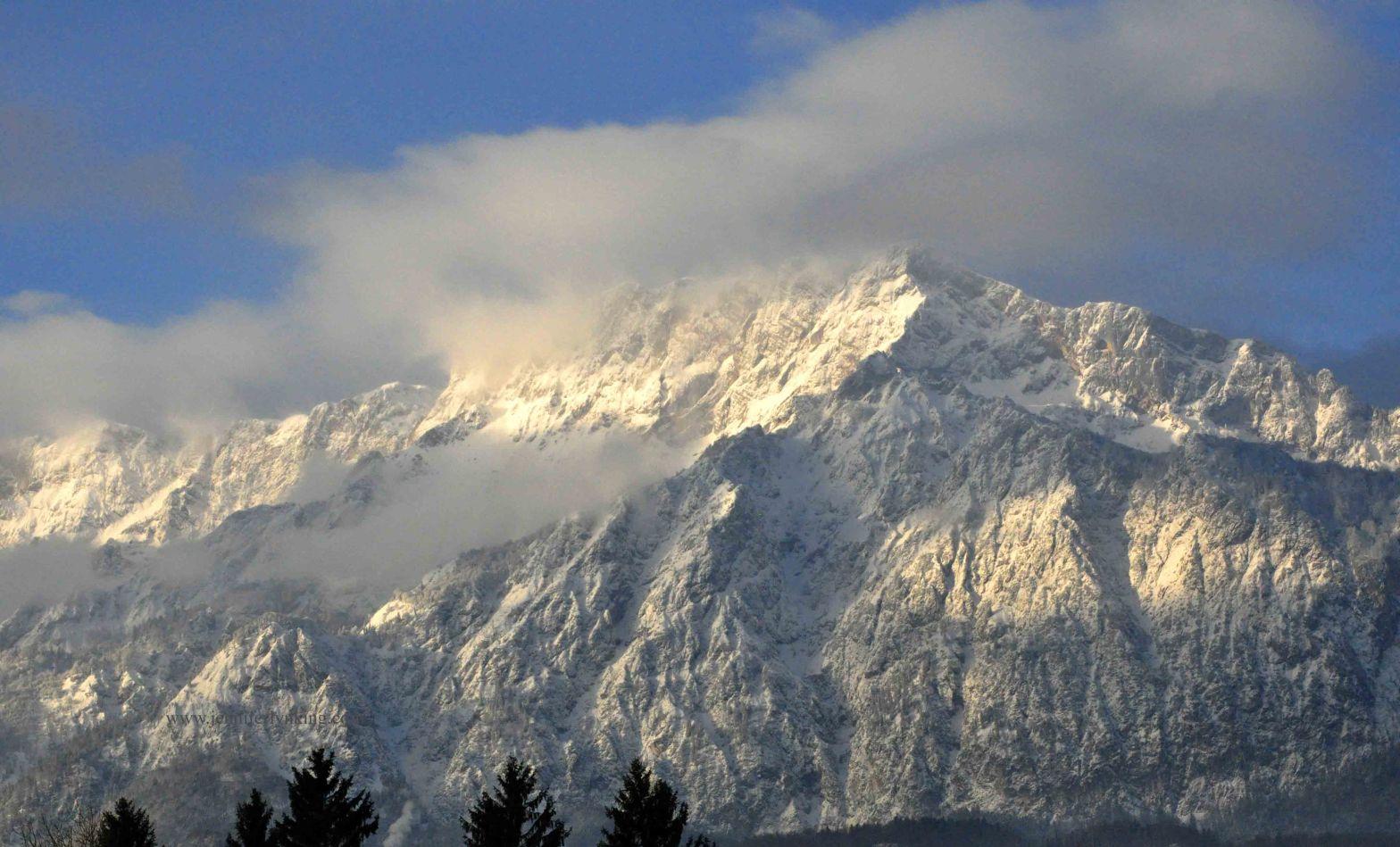 Mountain Peak in Austrian Alps