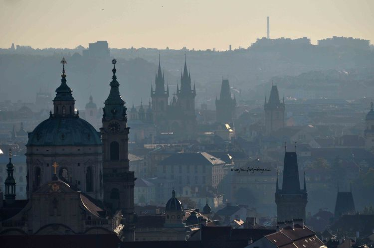 Prague, the view from Petrin Hill