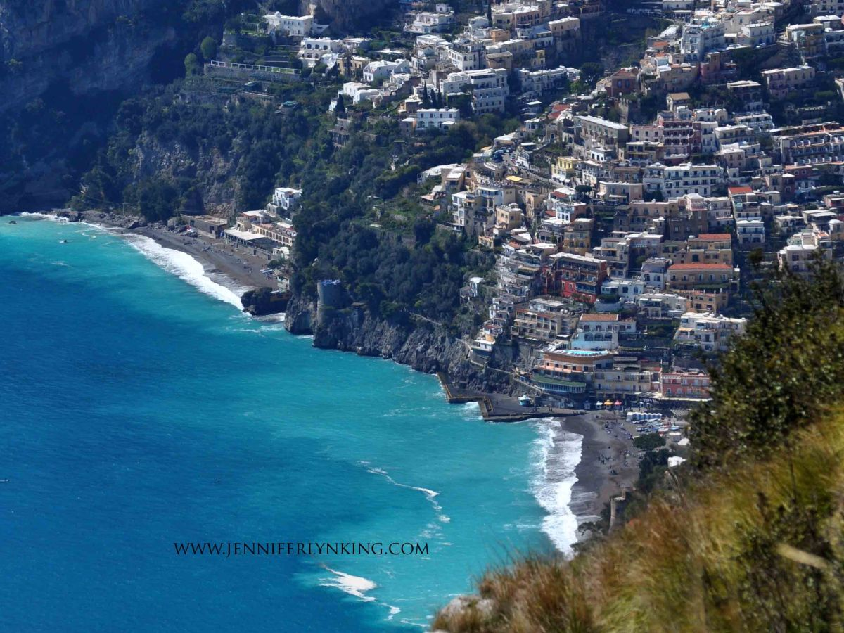 Positano, Italy, from the Path of the Gods