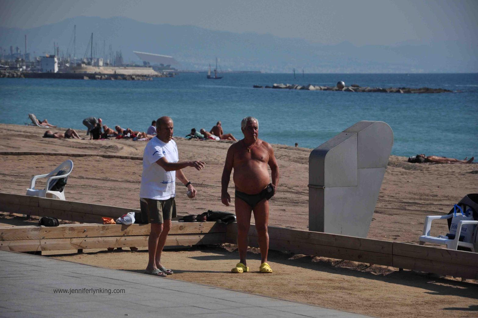 To me, THIS is Barcelona: Men playing Bocce Ball and Smoking Cigars