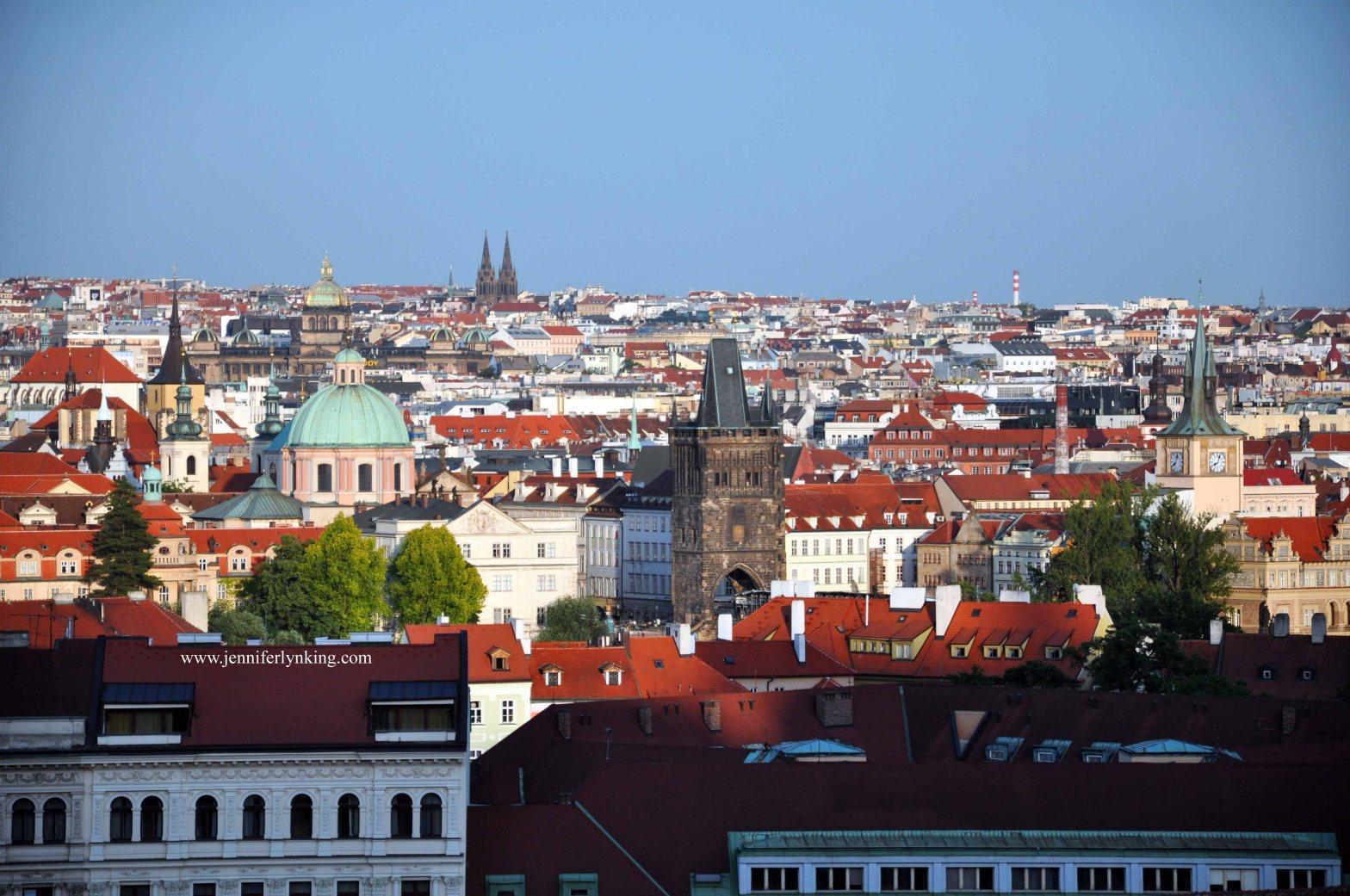 the Prague skyline
