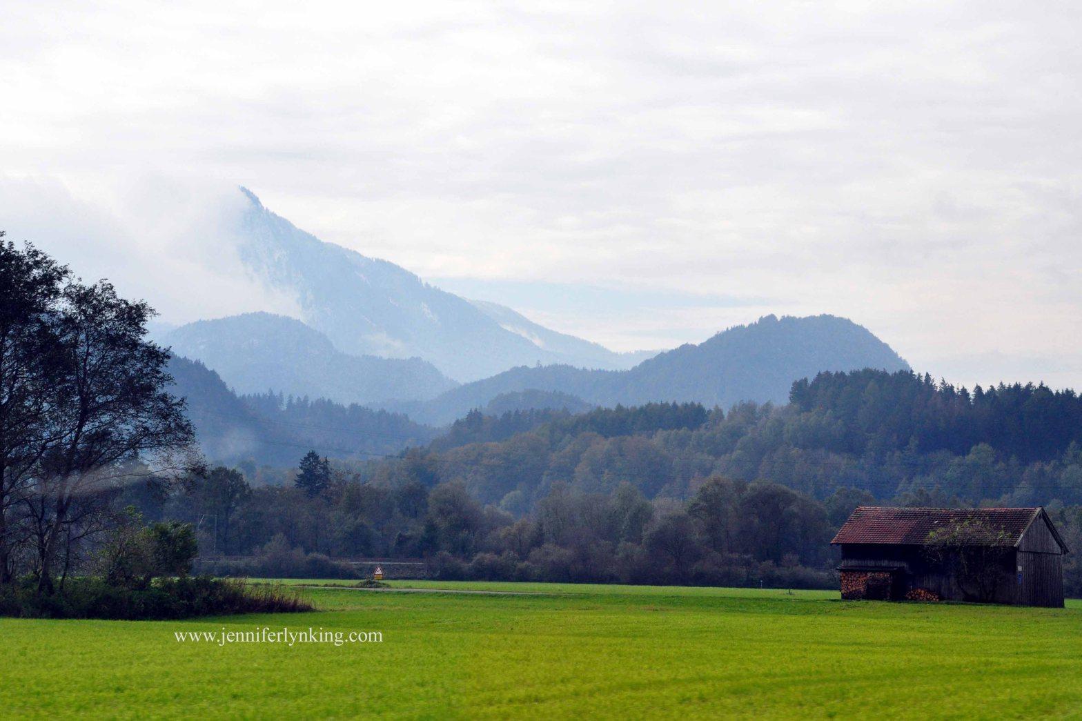 the Austrian and German Alps borderlands