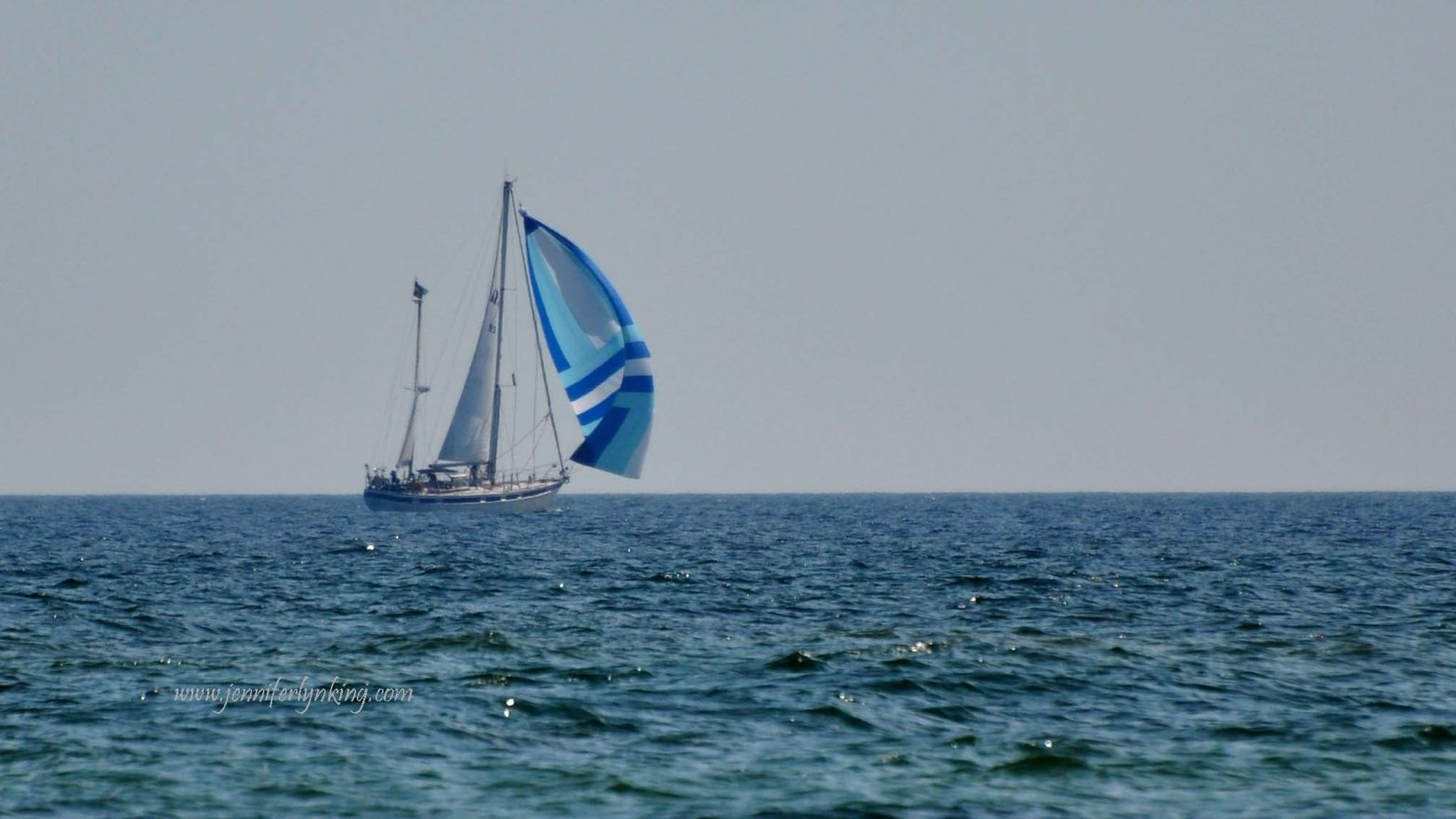 Spinnaker and Sailboat on the Baltic Sea, Sweden