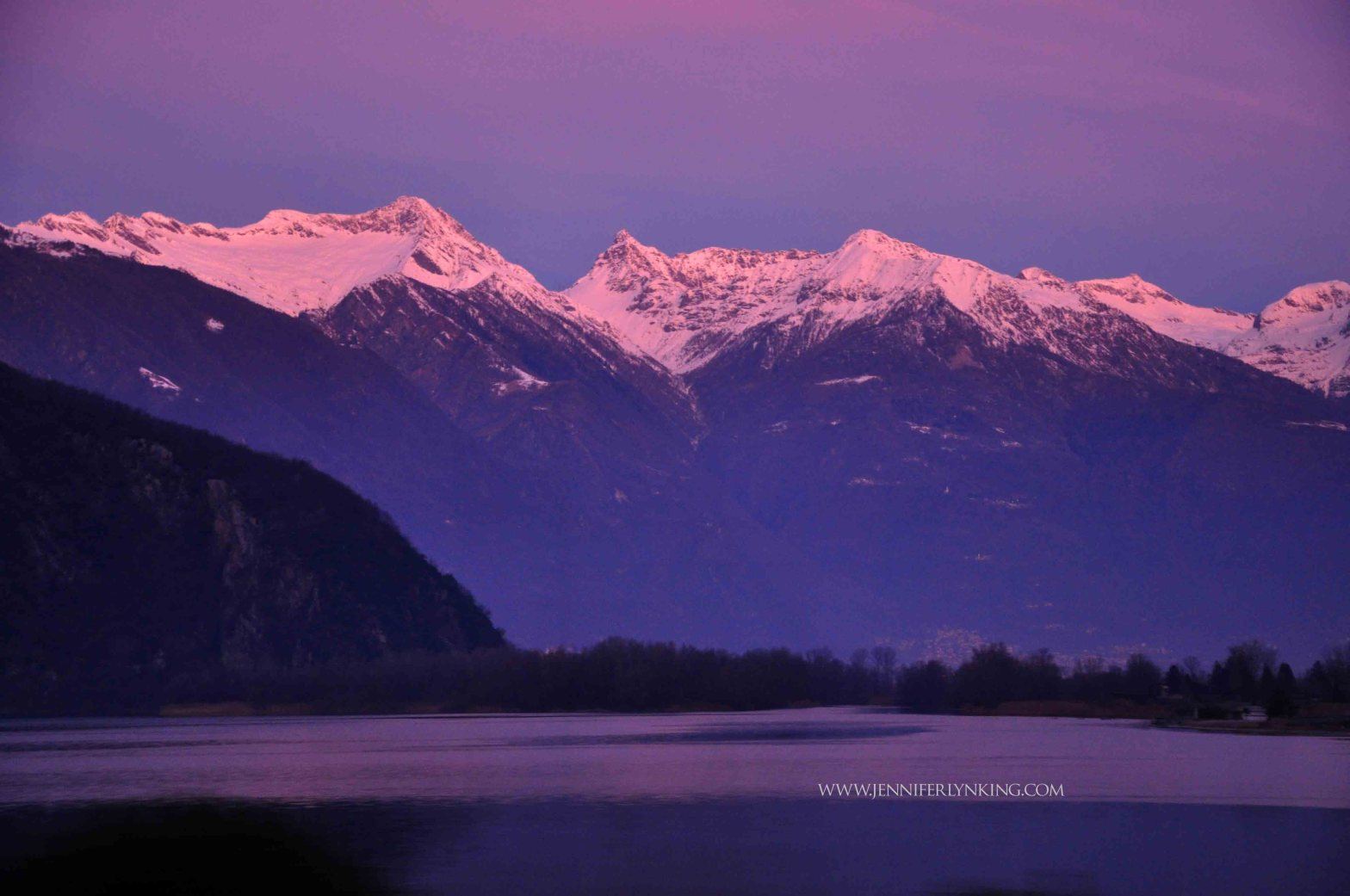 Winter Sunrise over Lake Como