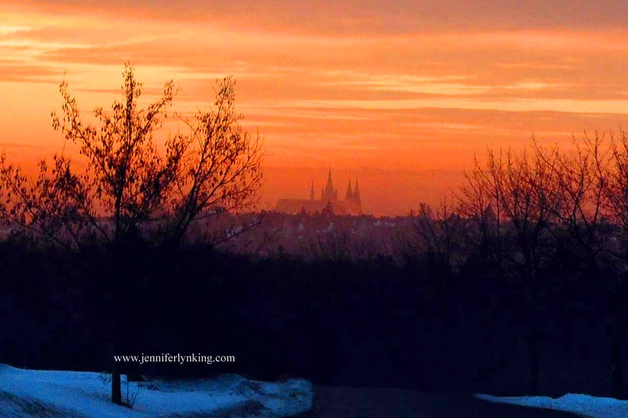 The Prague Castle Spires at Sunrise